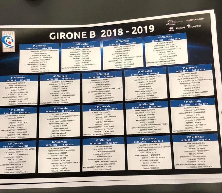 Calendario Serie A 11 Giornata.Live Serie C Alle 11 30 Il Sorteggio Dei Calendari 2018