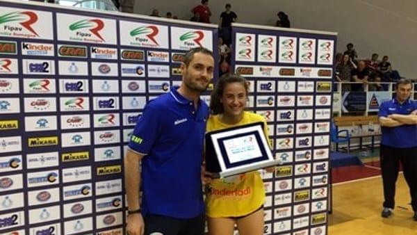 Susanna Rocca, premiata come miglior giocatrice al Trofeo delle Province