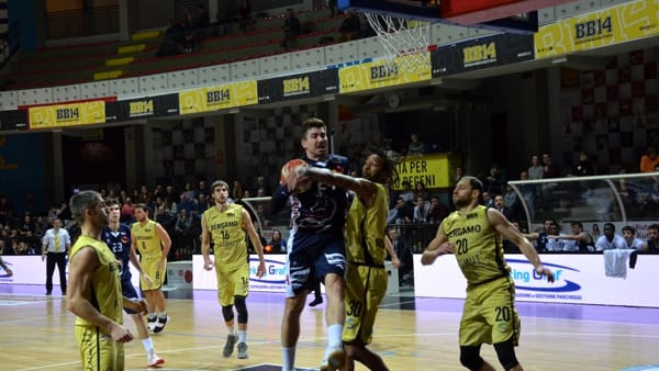 Basket - Assigeco, brutta botta: Bergamo vince (86-79) ai supplementari