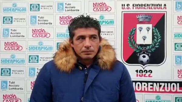 Fiorenzuola - Tabbiani: «Nel primo tempo sembravamo preoccupati, meglio nella ripresa» VIDEO