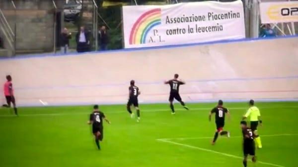 Fiorenzuola - La rete di Piraccini contro il Forlì è un capolavoro corale VIDEO