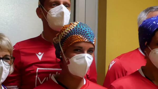 Il Piacenza regala le maglie ufficiali alla Terapia Intensiva VIDEO