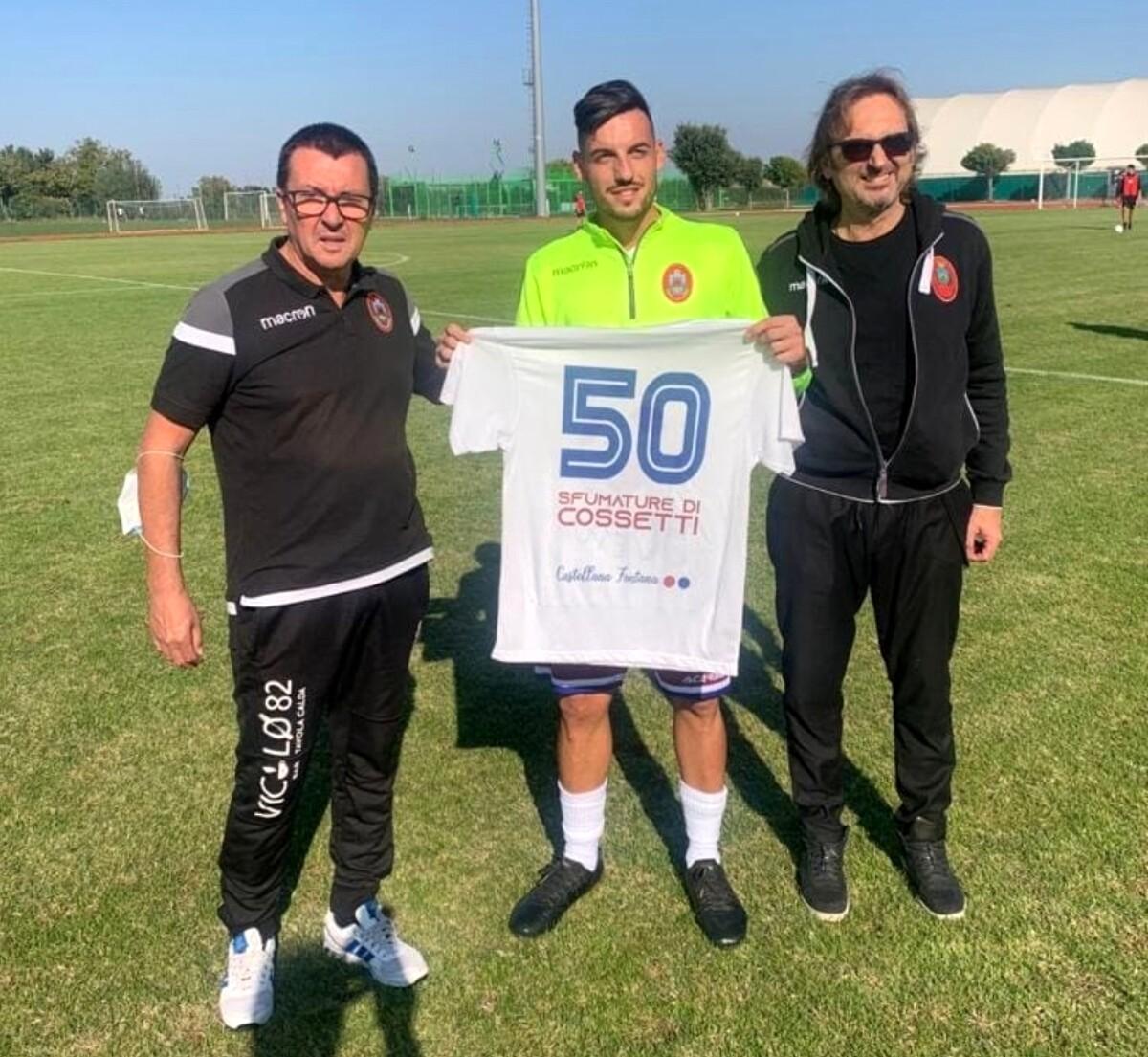 Cossetti a forza 50 con la Castellana Fontana: «Con il Carignano il mio gol più bello. A Castelsangiovanni sono in famiglia, pensare che non volevo venirci»