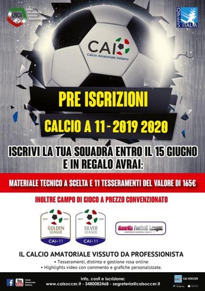 Locandina campionati Calcio a 11 - 2019 2020_m-2