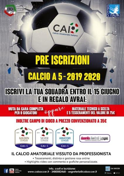 Locandina campionati Calcio a 5 - 2019 2020_m-2