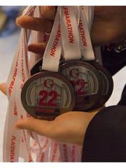 Le medaglie della Placentia Half Marathon numero 22-2